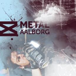 Dansk Metal Aalborg - grafik motiv på lærred. 80x80 cm på lærred