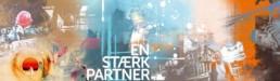 Dansk Metal i Aalborg har fået lavet en række motiver med brandingværdi til kontormiljøet. Denne er på 200x50 cm på lærred